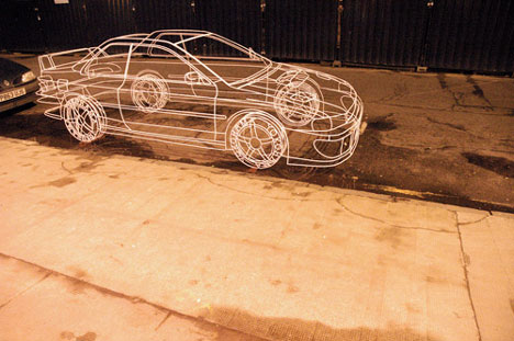Wireframe Toyota by Benedict Radcliffe