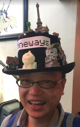 David Ng in the Mineways hat